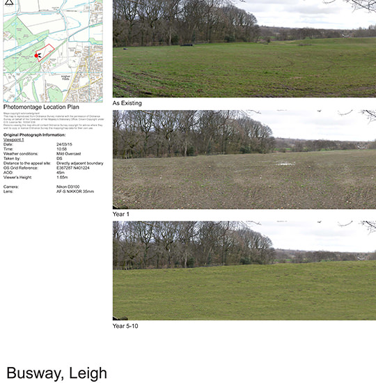 Guided Busway, Leigh